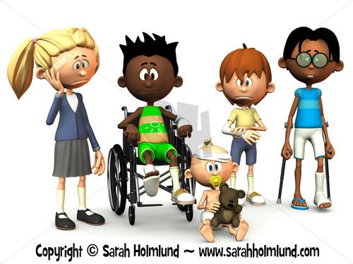 five injured cartoon kids zoom in read more - Cartoon Pictures Of Kids