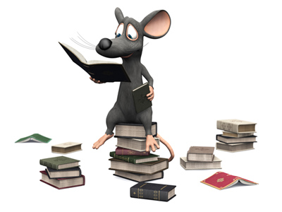 Mouse reading free books!
