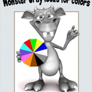 New book – Monster Gray looks for colors