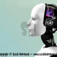 The face of a robot woman 2