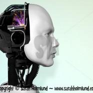 The face of a robot man 2