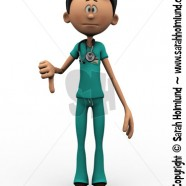 Cartoon doctor doing a thumbs down
