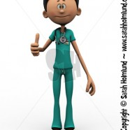 Cartoon doctor doing a thumbs up